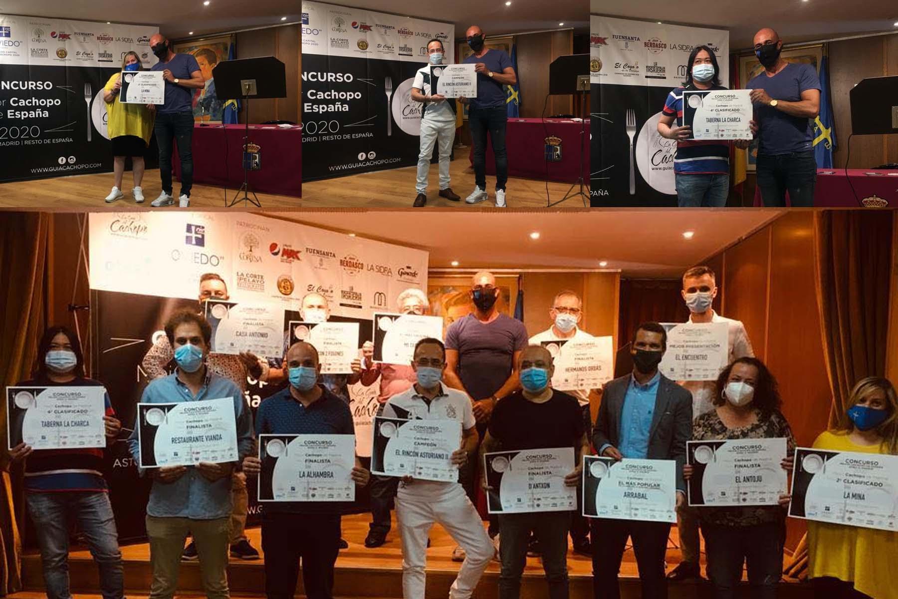 El concurso organizado por la Guía del Cachopo ha contado con la participacion de 29 restaurantes de la región