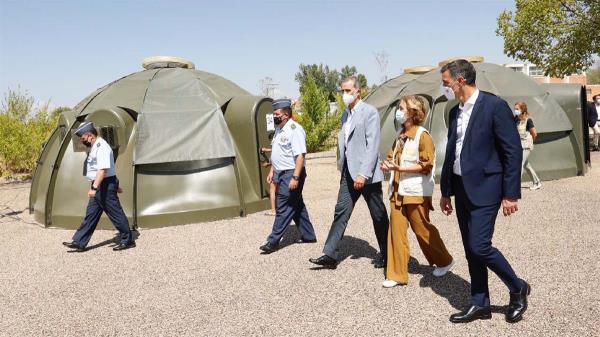 """La Base Aérea se ha convertido en el """"centro logístico de Europa"""" para la llegada de los afganos"""