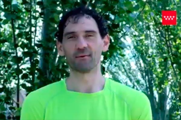 El torrejonero Jorge Garbajosa te anima a hacer deporte con responsabilidad