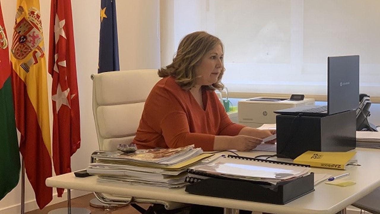 Hemos acudido a la rueda de prensa de la alcaldesa, Natalia de Andrés, que ha repasado la situación de la COVID-19 en el municipio