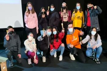 Un total de 22 chicas y chicos participaron en la iniciativa aprendiendo a rodar una película o hacer un guion, entre otras actividades