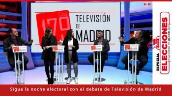 Sergio López (PP), Isidoro Ortega (PSOE) y Gabriel Ortega (Más Madrid) participan en el debate electoral de Televisión de Madrid
