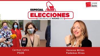 Hoy conocemos los argumentos de Carmen Calvo y la portavoz de Podemos Rivas, Vanessa Millán
