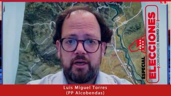 El presidente del PP de Alcobendas, Luis Miguel Torres, pide el voto para Isabel Díaz Ayuso