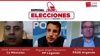 Hoy conectamos con Guillermo Hita (PSOE), José Antonio Luelmo (Ciudadanos) y Miguel ángel Recuenco (PP)
