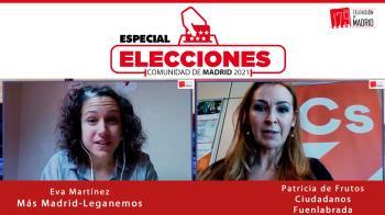 Hoy conectamos con la portavoz de Ciudadanos en Fuenlabrada, Patricia de Frutos, y la concejala de Más Madrid-Leganemos, Eva Martínez