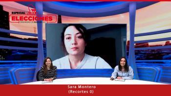 Hoy conectamos con la cabeza de lista de Recortes 0, Sara Montero