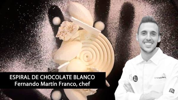 Espiral de chocolate blanco
