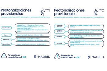 El tráfico se restringirá en calles de Carabanchel, Vicálvaro, Centro, Chamberí, Villaverde o Ciudad Lineal