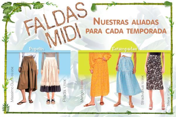 Faldas Midi el