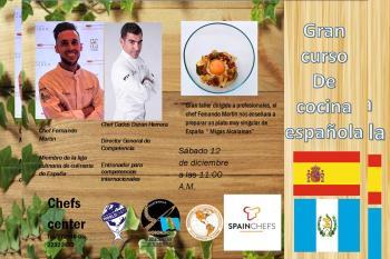 El chef complutense impartió el sábado pasado una masterclass online para el Chefs Center de Guatemala