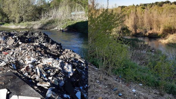 Durante la limpieza se han retirado 10 vehículos y 112 toneladas de residuos en su paso por el municipio