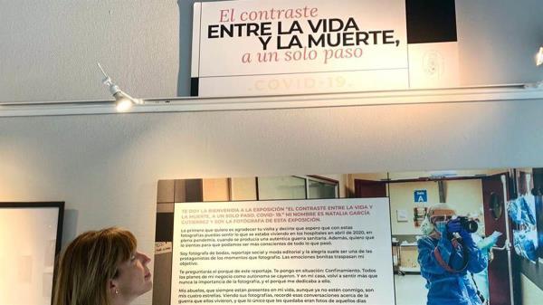 La fotógrafa Natalia García recoge, a través de 85 piezas, su experiencia en el Hospital de Getafe