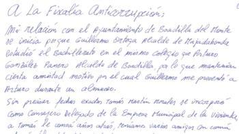 El cabecilla de la trama Gürtel implica al ex alcalde Arturo González Panero en una carta de su puño y letra