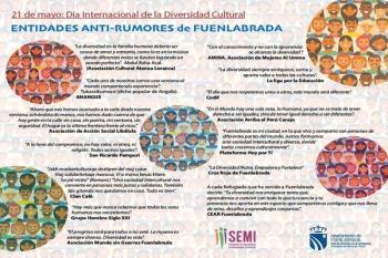 Las entidades de la Red Antirumores de Fuenlabrada han hecho sus aportaciones para conmemorar esta fecha
