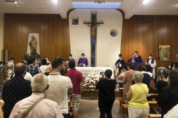 Oficiado por el obispo de Getafe, Ginés García Beltrán en la Parroquia de Nuestra Señora de Zarzaquemada