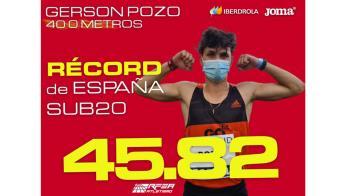 El atleta alcalaíno canterano del Ajalkalá consiguió el récord de España Sub-20 en los 400ml con una marca de 45.82