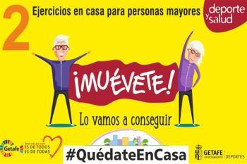 Deportes Getafe lanza el segundo vídeo de ejercicios básicos para los mayores