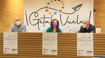 Lo han presentado en una rueda de presa Sara Hernández, la alcaldesa de Getafe, Javier Santos, concejal de Deportes, y Hugo Alonso, el secretario General de ACES Europa