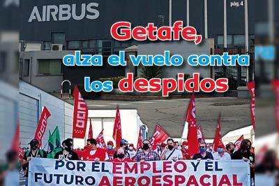 Lee toda la noticia 'Getafe une fuerzas para frenar el vuelo de los despidos en Airbus'