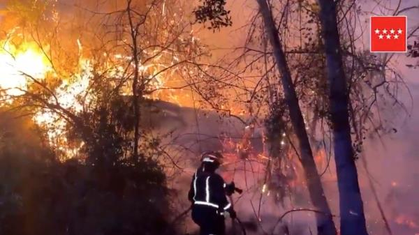 Gran Incendio en el Pantano de San Juan