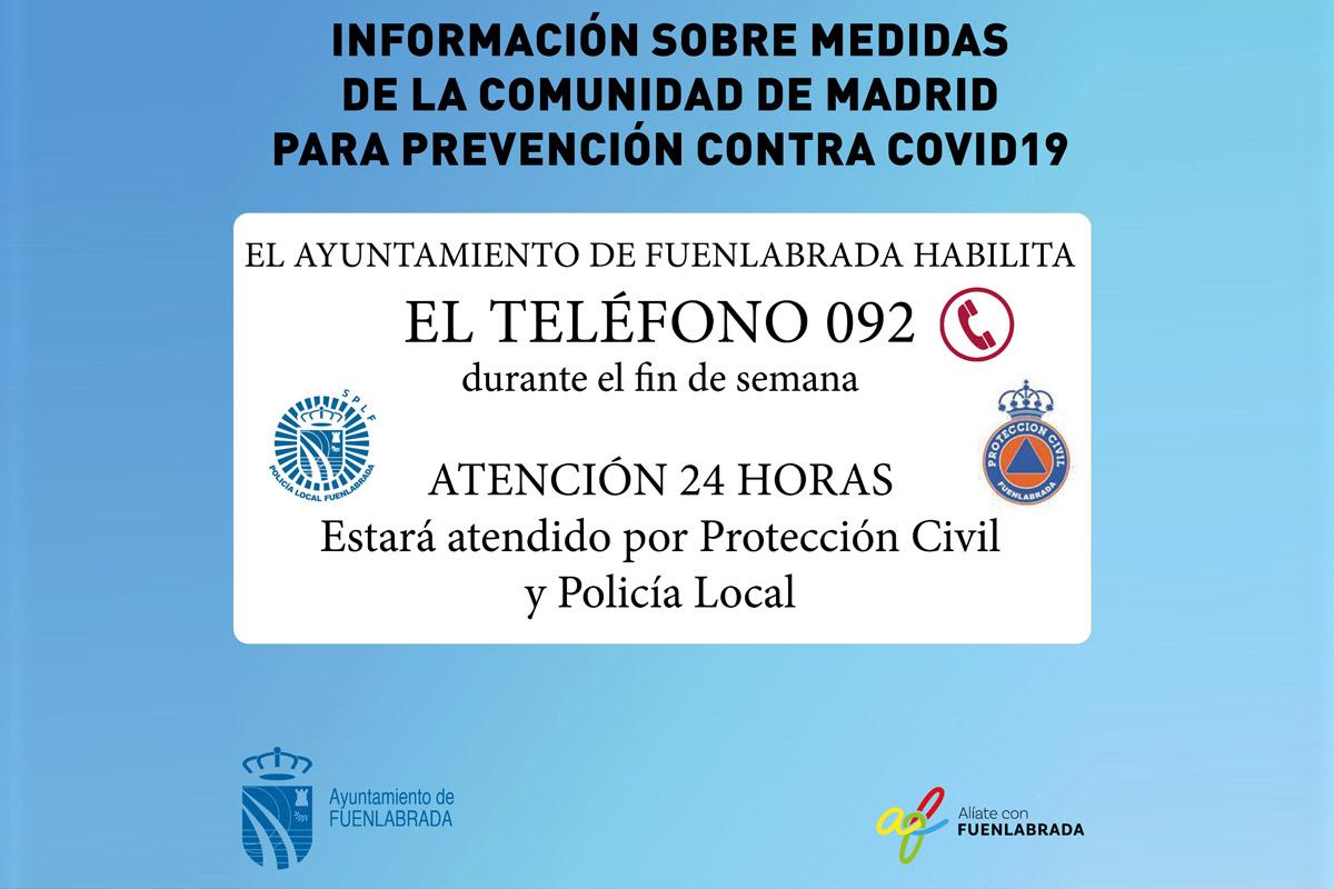 El teléfono será atendido las 24 horas por Protección Civil y la Policía Local