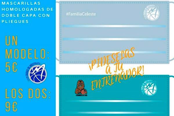 Hazte con la mascarilla personalizada del C.B. Ciudad de Móstoles