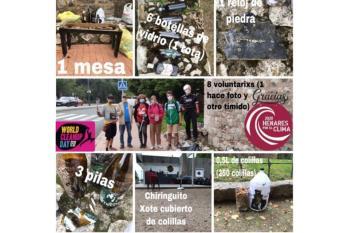 Un grupo de voluntarios realizó labores de limpieza en los alrededores de la Muralla y el Parque O´Donell
