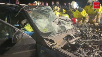 El accidente ocurrió a la altura del kilómetro 59 y en el vehículo iban tres ocupantes