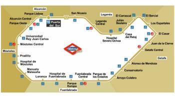 Se suspende el servicio hasta el 12 de septiembre, entre las estaciones de Hospital de Móstoles y Conservatorio (Getafe)