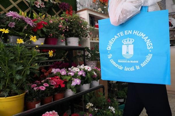 'Quédate en Humanes: Tu comercio local te necesita' es el lema de esta campaña municipal