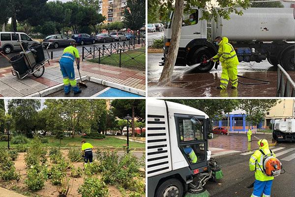 El alcalde de la localidad ha visitado los trabajos de limpieza este martes