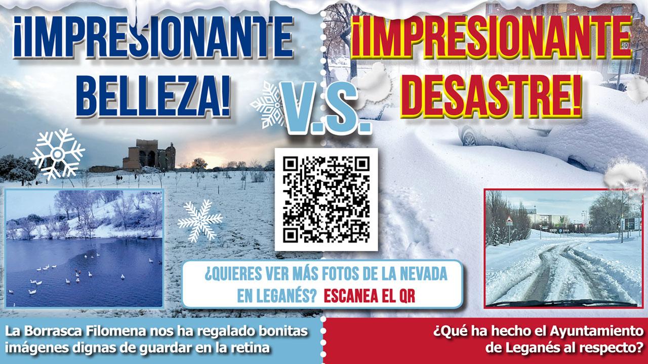 Filomena cubre de nieve Leganés