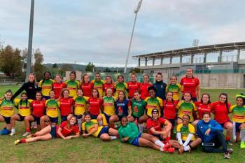 Las jugadoras del Sanse Scrum Rugby participaron en un torneo amistoso contra Brasil