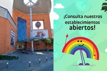 El centro comercial comunica los establecimientos que se encuentran abiertos al público