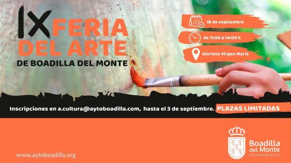 IX Feria del Arte de Boadilla: ya puedes inscribirte para participar como expositor