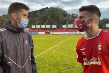 El jugador de la RSD Alcalá, Izan González, atendió a Soy de Alcalá tras la derrota del equipo alcalaíno por 0-2 ante el Flat Earth en el Val