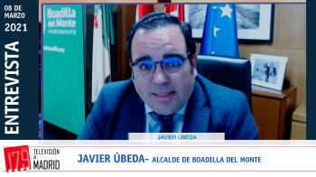 """El alcalde Boadilla se pronuncia en Televisión de Madrid tras las acusaciones de Vox sobre el uso de """"un coche oficial y dos escoltas"""""""