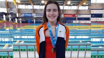 La joven nadadora también ganó el oro en el Campeonato de España de invierno en 100 metros braza y en relevos, en el 4x100 estilos