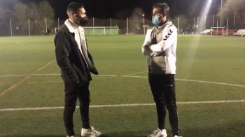 El entrenador de la RSD Alcalá atiende a Soy de Alcalá tras el empate a uno ante la AD Complutense
