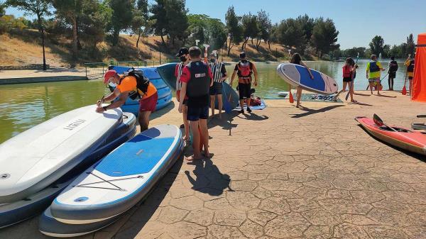 Parla promueve el deporte en contacto con la naturaleza y las jornadas de puertas abiertas tendrán lugar el fin de semana 9, 10 y 11 de julio en el lago del Parque de la Dehesa Boyal