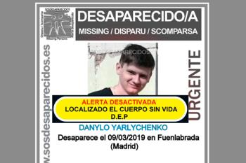 Danylo Yarlychenko, vecino de Fuenlabrada, desapareció el 09/03