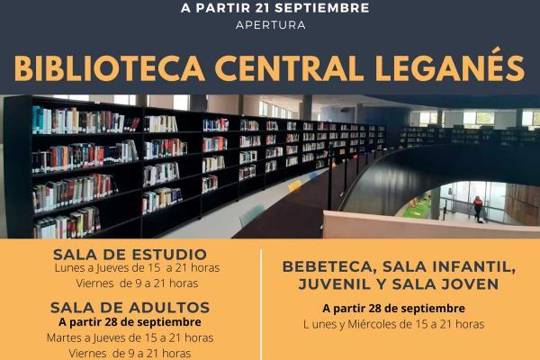 La Biblioteca Central de Leganés reabre las puertas de su sala de estudio