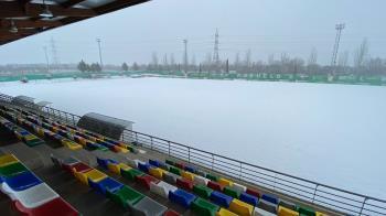 La nieve obligó a suspender los entrenamientos y partidos programados