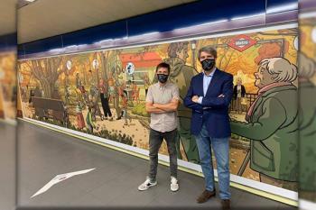 Paco Roca ha sido el encargado de este homenaje en la estación de Metro de Plaza de Castilla