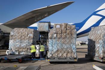 Con el decimoquinto avión recibido, la región se protege contra el coronavirus con más de 1000 toneladas de EPIs y mascarillas
