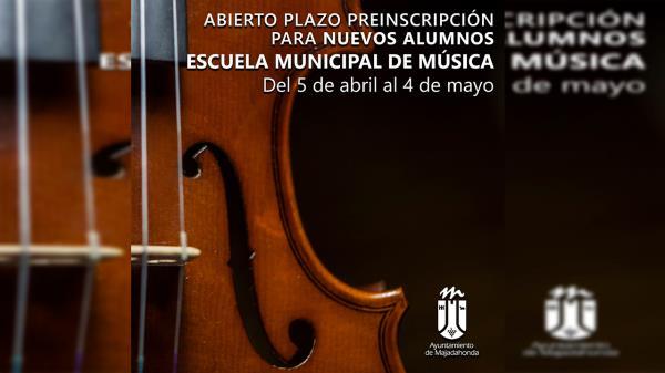 No te quedes sin tu plaza en la Escuela Munipal de Música