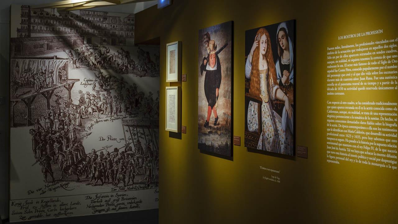 La exposición destaca los textos de Cervantes relacionados con el actor