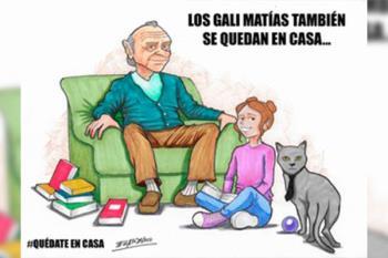 Los personajes creados por Javier Zorrilla Berganza también se quedan en casa