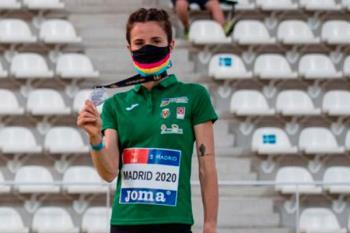Nuestra atleta cumplió los pronósticos sobre la pista del Estadio de Vallehermoso